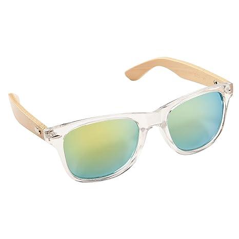 ECENCE Gafas de Sol de Madera de bambú Mujer Hombre Unisex Gafas Retro en Tendencia Cristal Verde 14010402