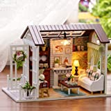 Kisoy Romantic and Cute Dollhouse Miniature DIY House Kit Creative Room Perfect DIY Gift for Friends,Lovers and Families(Perfect Happy Time)
