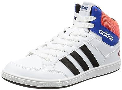 check out b57ae 86f53 adidas Hoops Mid K – Chaussures deportivaspara Enfants, Blanc –  (FtwblaNegbas