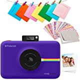 "Polaroid SNAP Touch 2.0 – 13MP Portable Instant Digital Camera w/Built-In Bluetooth, LCD Touchscreen Display, 1080p Video, ZINK Zero Ink Technology & NEW App – Prints 2x3"" Sticky-Back Prints - Purple"