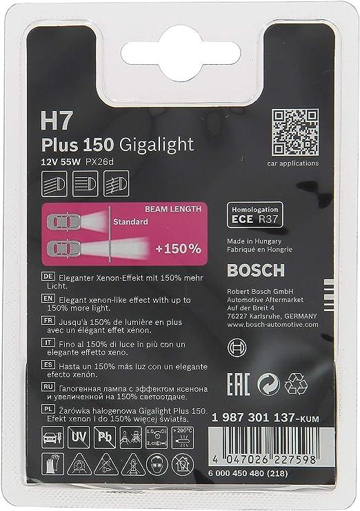 Scheinwerferlampe Gigalight Plus 150 H7 12 V 55 W 1 Leuchtmittel Auto