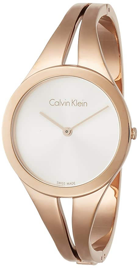 Amazon.com: Calvin Klein Womans Addict Rose Gold Bangle K7W2M616: Watches