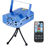 Coidea MIni LED Strobe 7 Modes Sound Actived Auto Flash Rgb Led Stage,Disco, DJ Lights with Remote Control (Blue)