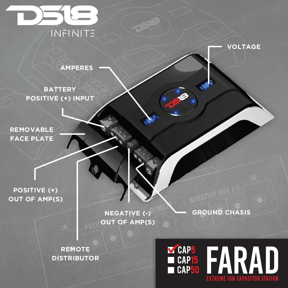 CAP50 NIS Dummy vendor code for NIS DS18 50 Farad Extreme Ion Capacitor Station with Digital Voltage//Amperage Display DS18Sound