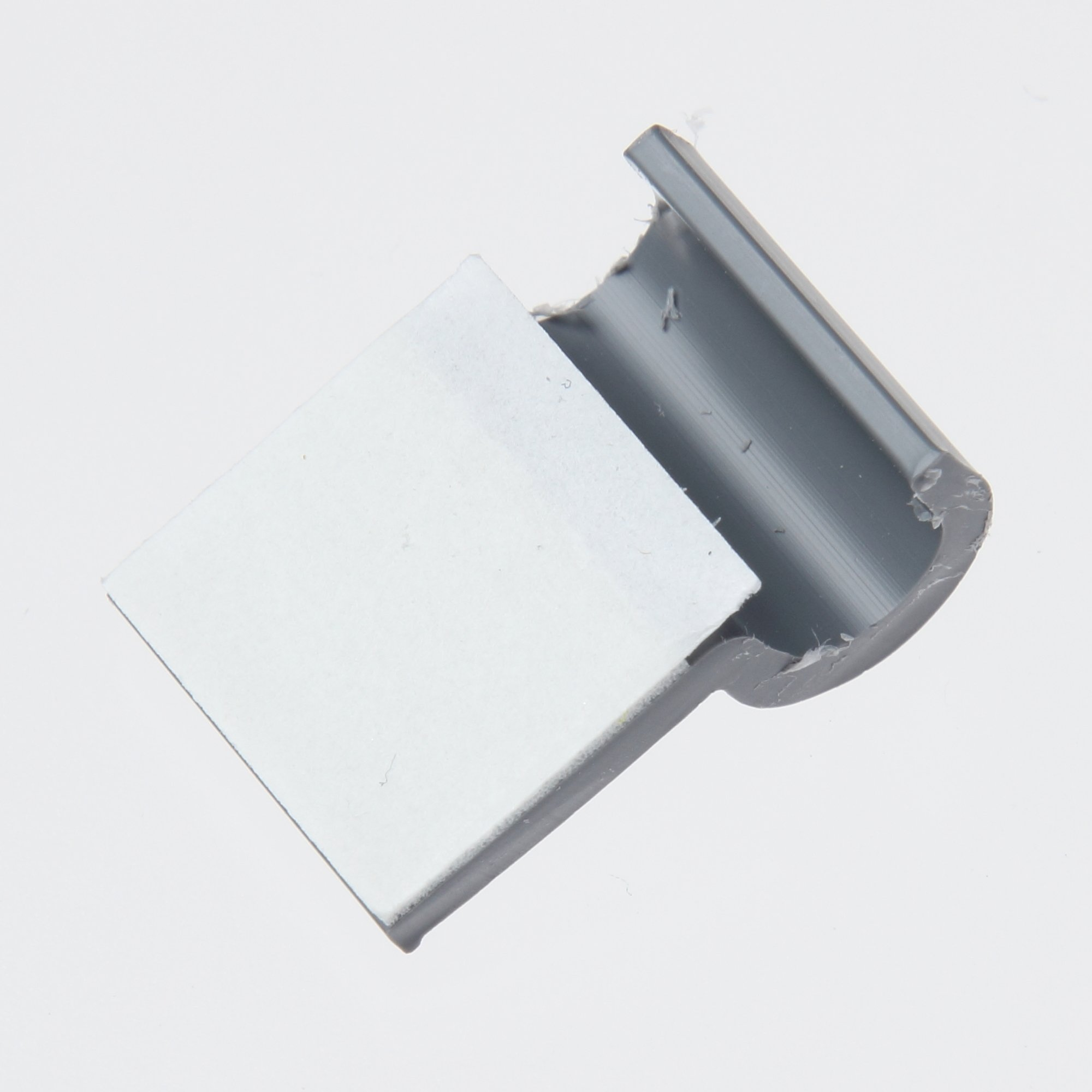 Panduit A1C12-A-C8 A1C Type Clip, Light Gray, Rubber Adhesive Type, 0.12'' Max Bundle Diameter, 0.23'' Height, 0.63'' Width, 0.77'' Length (Pack of 100)