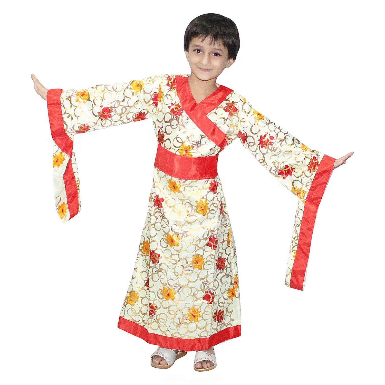Kaku Fancy Dresses Japanese Kimono Traditional Wear Dress for Kids