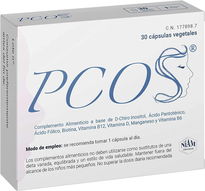 PCOS - Complemento alimenticio con D-Chiro Inositol, vitaminas y minerales - 30 cápsulas