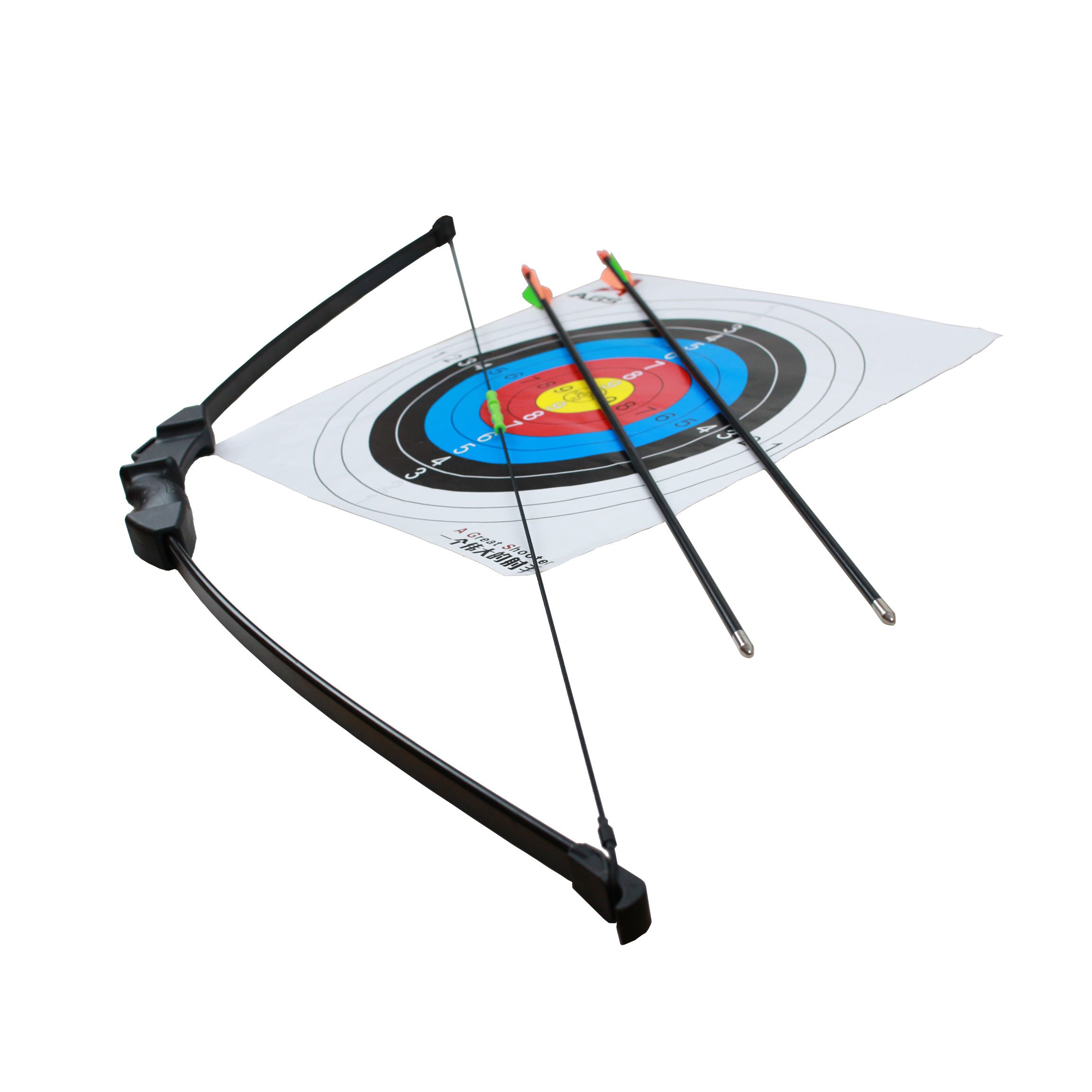 Geelife 45'' Basic Archery Bow and Arrow Set Start Recurve Bow Outdoor Sports Game Hunting Toy Gift Bow Kit Set with 2 Arrows and Target Sheet 18 Lb for Teens by Geelife (Image #2)