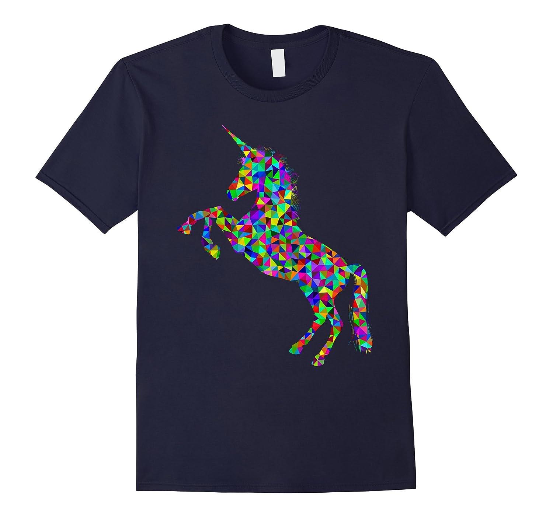 Colorful Big Unicorn T Shirt-BN