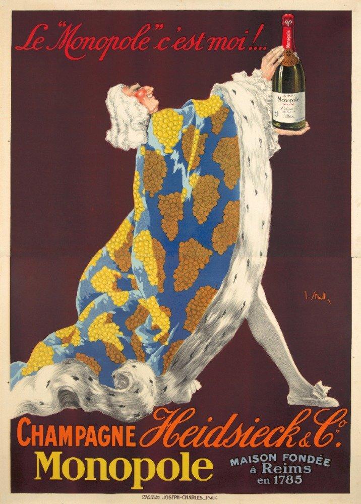シャンパンHeidsieck Vintageポスター(アーティスト: Stall )フランスC。1922 12 x 18 Art Print LANT-74207-12x18 B01DUNLZOS  12 x 18 Art Print