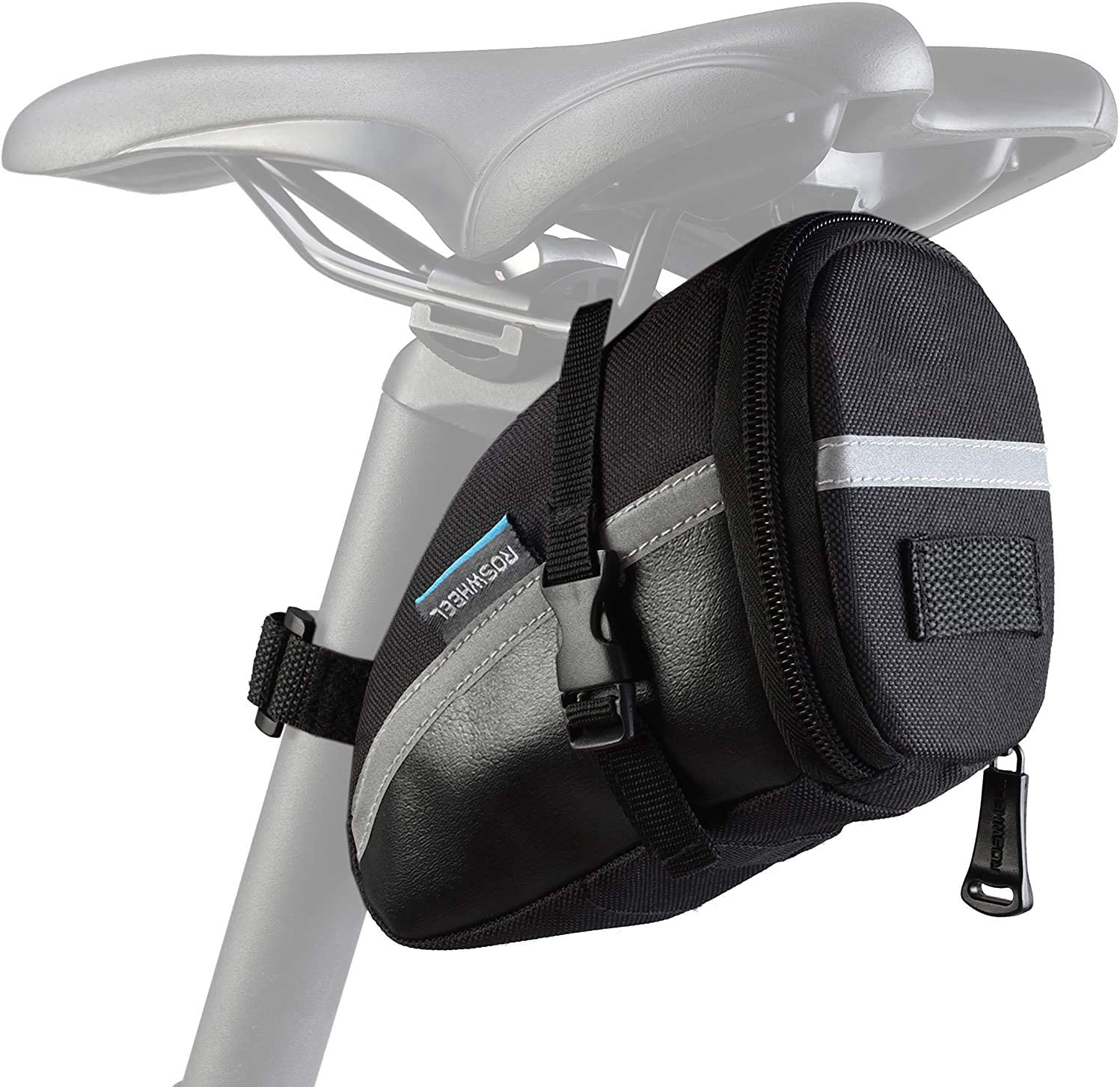 Roswheel 131455 Water Resistant Bike Saddle Bag Bike Under Seat Pack Quick Release Bike Pouch
