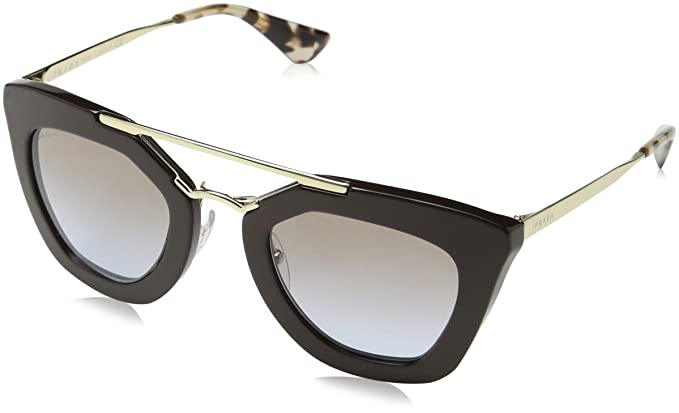18b5e5ed8675b Sunglasses Prada PR 9QS DHO4S2 BROWN  Amazon.in  Clothing   Accessories
