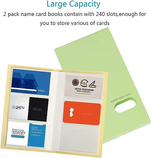 tarjetero Zoomsky para guardar 240pcs tarjetas de visita o ...