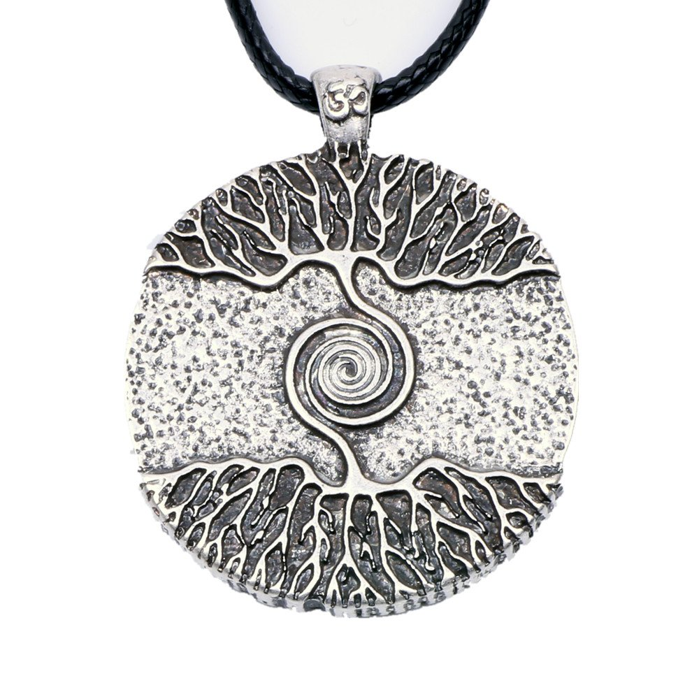 Paw Paw House Yoga Inspired Kybalion Pendant Necklace Amulet Tree of Life Talisma Chi As Above As Below As Within As Without Meditation (4082 Si) (4082) by Paw Paw House (Image #1)