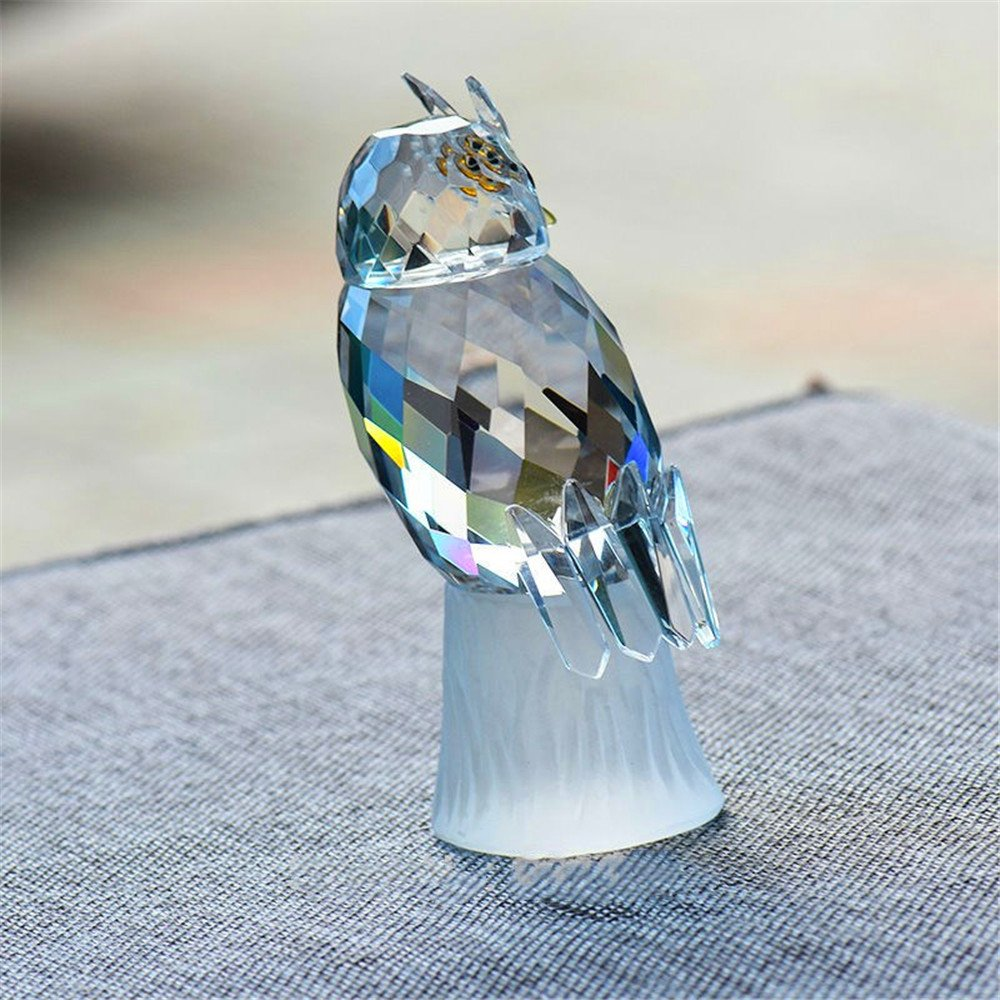 Crystal Owl Figurines Paperweight Craft Art/&Collection Car Ornaments Souvenir Home Wedding Decor