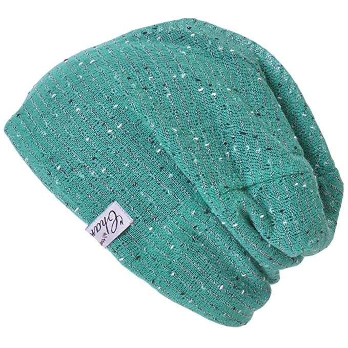 Casualbox Charm Mens Mesh Layer Reversible Light Slouch Beanie Hat Japanese  Fashion Green d6048922455d