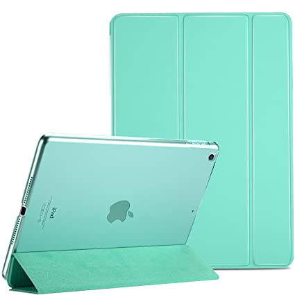 10e64fd72bd7 ProCase iPad 9.7 Case 2018 iPad 6th Generation Case / 2017 iPad 5th  Generation Case - Ultra Slim Lightweight Stand Case with Translucent  Frosted Back ...