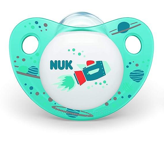 Nuk - Trendline Day - Set de 2 chupetes para niño, talla 1 ...