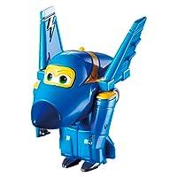 Alpha Animation & Toys Super Wings Transforming Jerome vehículo de Juguete - Vehículos de Juguete (Negro, Azul, 4 año(s), 9 año(s), Niño/niña, Interior, 98 g)