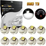 Partsam 10PCS T3 Neo Wedge SMD LED Light Instrument Panel Gauge Cluster AC Climate Controls Radio Switch Lamps Bulbs, White