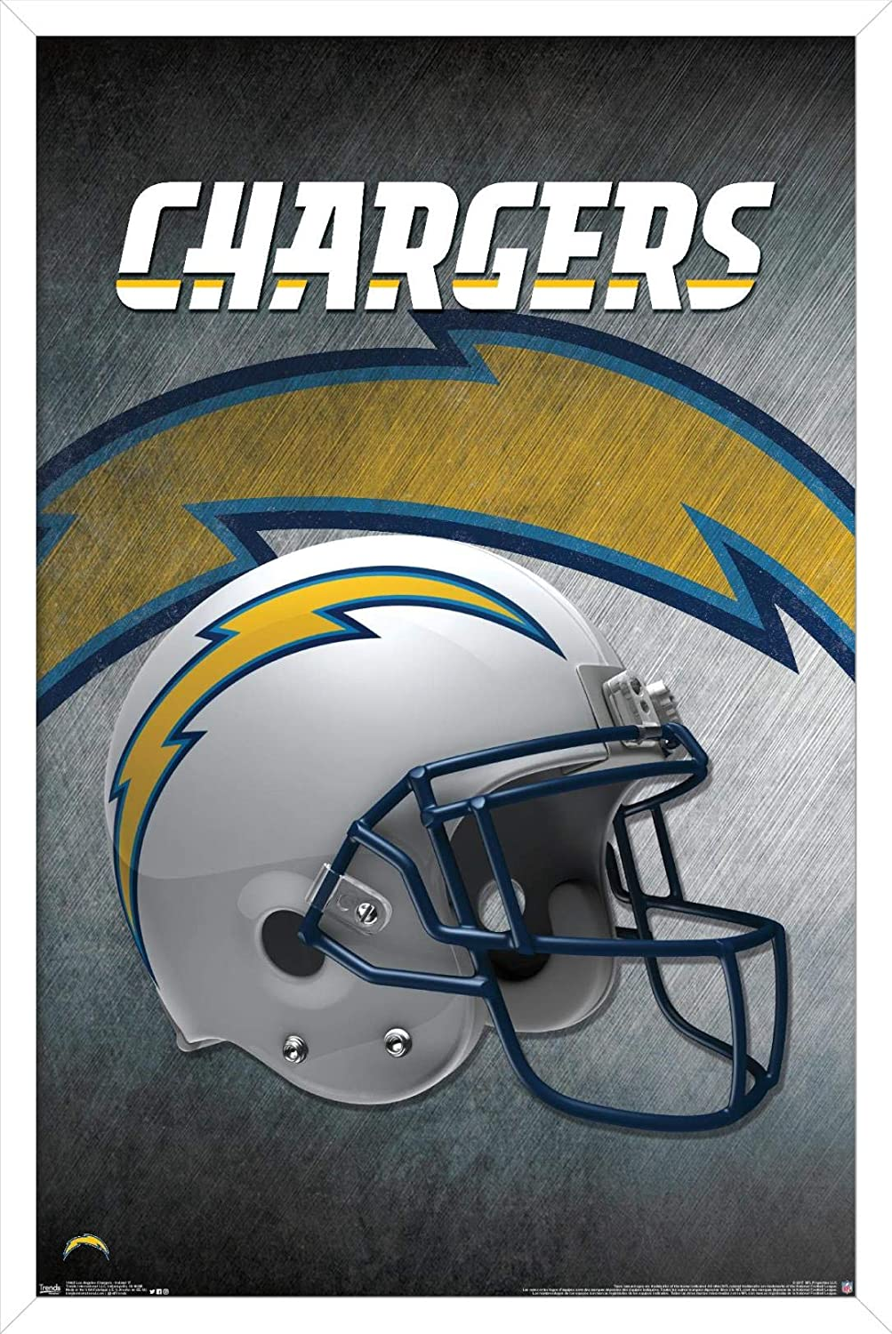 Trends International NFL Los Angeles Chargers - Helmet 17 Wall Poster, 22.375