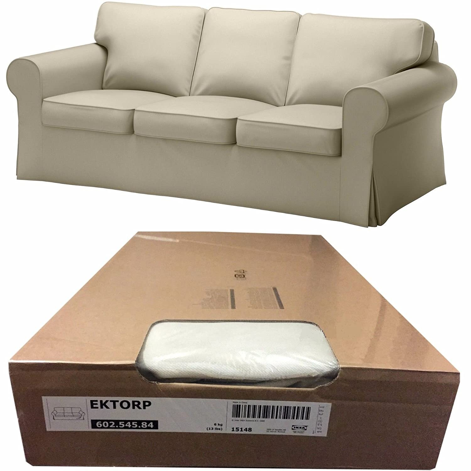 Amazon.com: Ikea Ektorp 3 Seat Sofa Cover, Tygelsjo Beige (Slipcover Only)  602.545.84: Home U0026 Kitchen