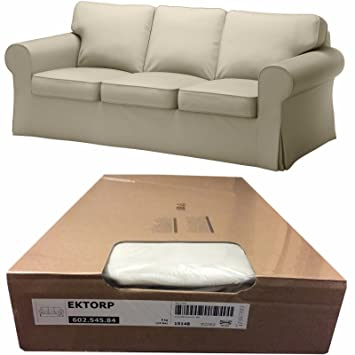 Ikea Ektorp 3 Seat Sofa Cover, Tygelsjo Beige (Slipcover Only) 602.545.84