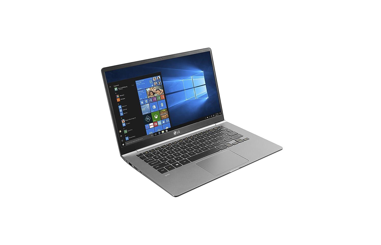 TALLA 14 pulgadas. LG gram 14Z980-B - Portátil de 14'' Full HD IPS (Menos de 1 Kilo, bateria de 21 Horas, Intel i5 8250U 8th Gen, 8 GB RAM, 256 GB SSD, Windows 10 Home), Plata Oscuro - Teclado QWERTY Español