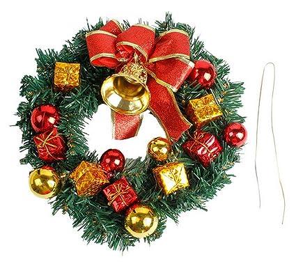 La Vogue Corona De Navidad Para Puerta Pared Guirnalda Adornos Con - Coronas-de-navidad-para-puertas