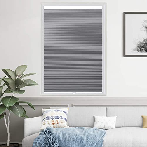 HOMEDEMO Blackout Cellular Shades Cordless Window Blinds and Room Darkening Shade