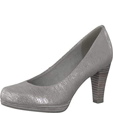 Tamaris Damen Metallic-Pumps Silber Synthetik 38 uuvuo