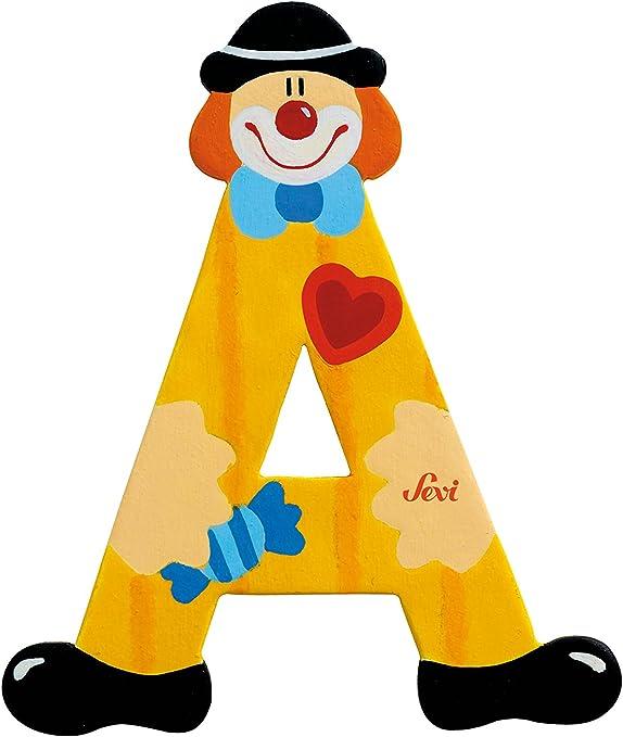 Petit Jour Lettre clown en bois G