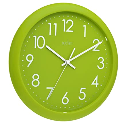 Acctim 21895 Abingdon Reloj de pared, color verde lima