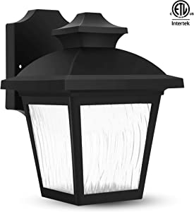FUDESY Outdoor Wall Lanterns, Exterior Wall Sconce Porch Light Fixture with 56 LEDs 4000K, Nature White, Anti Corrosion Plastic Materials, Black, P736-LED