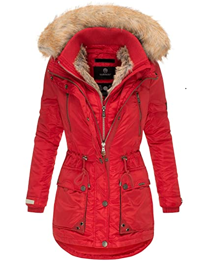 DAMEN WINTER STEPP Jacke Parka Mantel Kapuze warm gefüttert