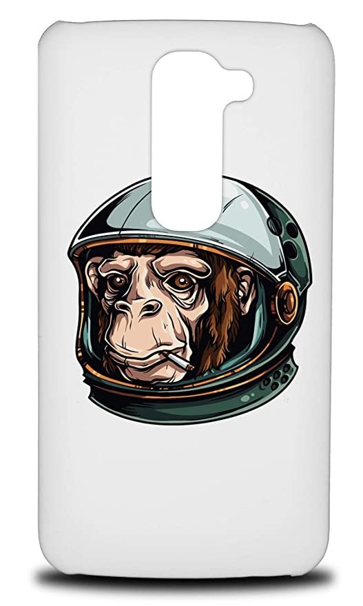 Amazon com: Funny Astronaut Monkey Hard Phone Case Cover for