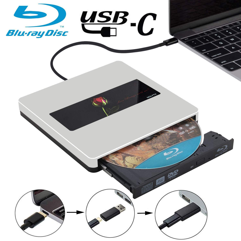USB C External Bluray Drive NOLYTH USB3.0 External Blu-Ray Drive Burner Player for MacBook Pro/Air/Mac/Laptop/Windows 10