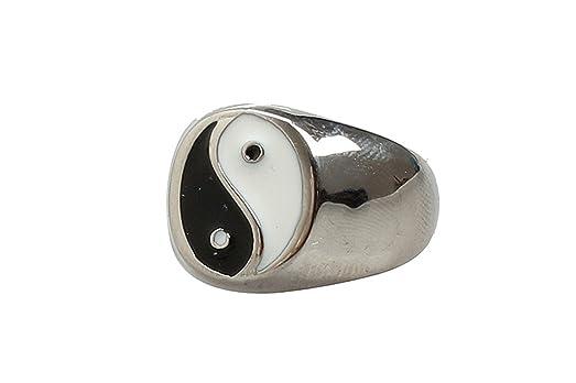 Amazon Com Epinki Cool Rings For Men Stainless Steel Black White