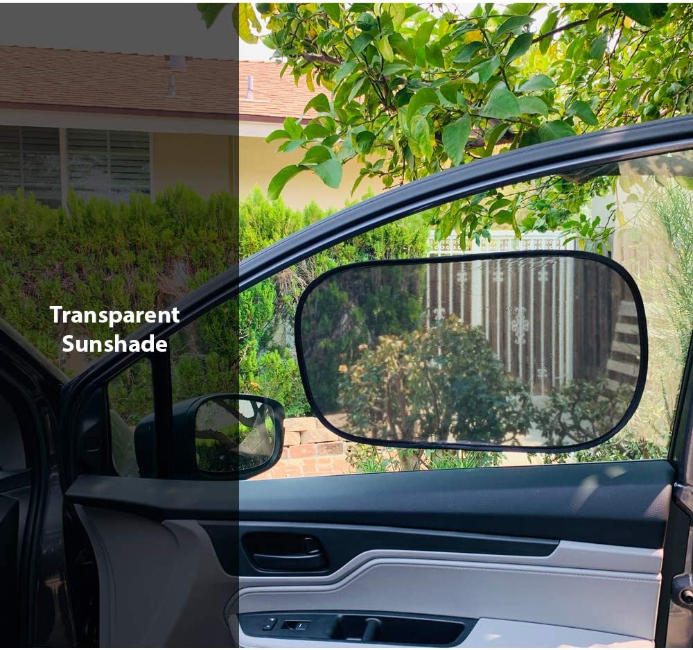 2 Dark and 2 Light ggomaART Car Window Sun Shade Women Baby and Child Block Damage from Direct Sunlight and Heat Universal Cling Sunshade Sun Protection for Any Windows for Men