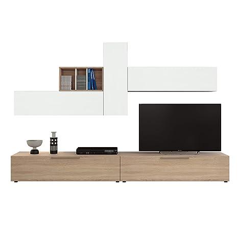 Habitdesign 016685F Mueble de Comedor, Conjunto de salón ...