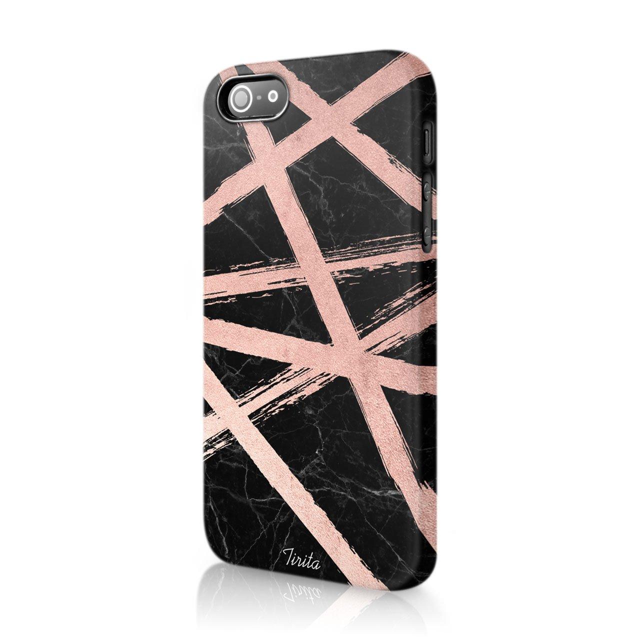 11 Tirita duro funda carcasa rosa oro m/ármol con purpurina Trendy Fashion regalo Present Cute dise/ño Motorola Moto G4 /& G4 Plus