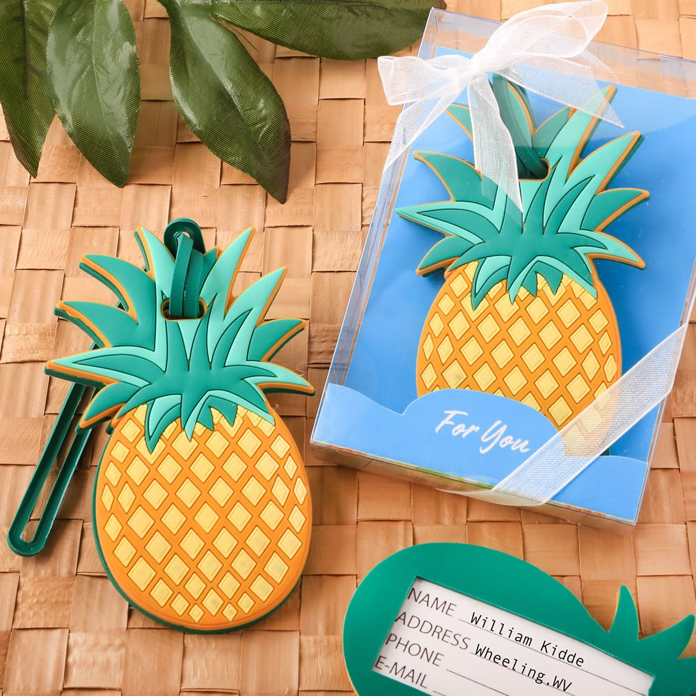 Pineapple Themed Luggage Tag Travel Favors, 24 by FavorOnline
