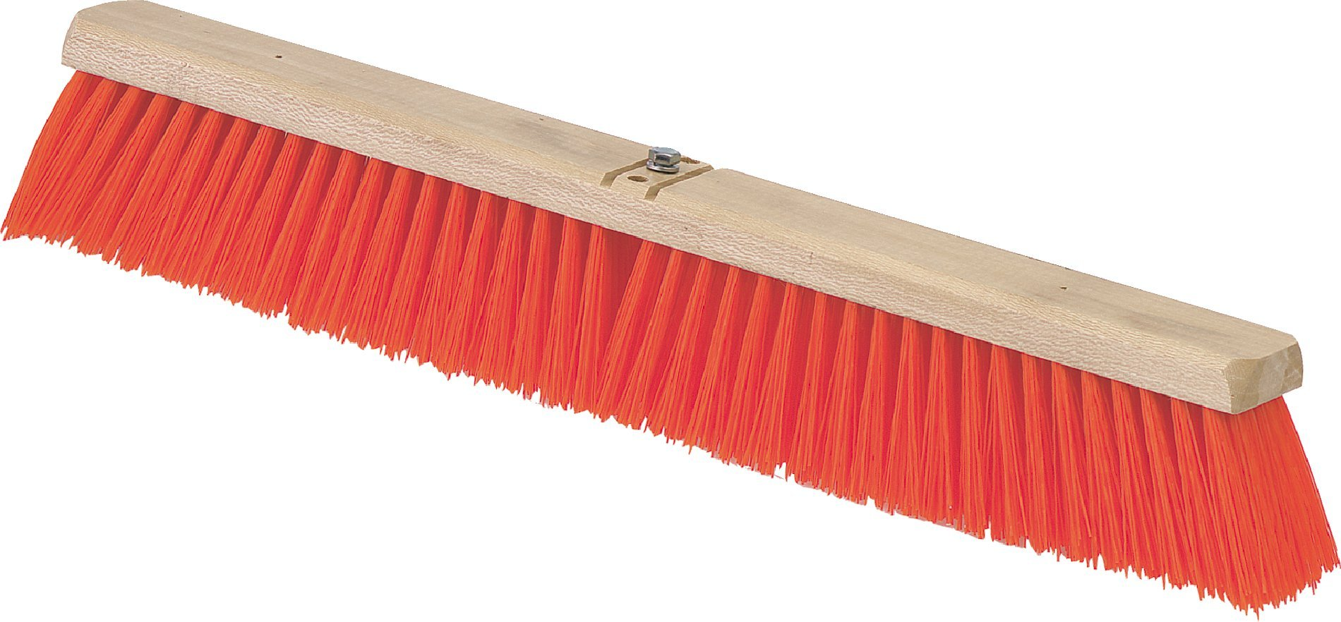 Carlisle 3610762424 Flo-Pac Juno Style Industrial Strength Sweep, Polypropylene Bristles, 24'' Length, Orange (Pack of 12) by Carlisle