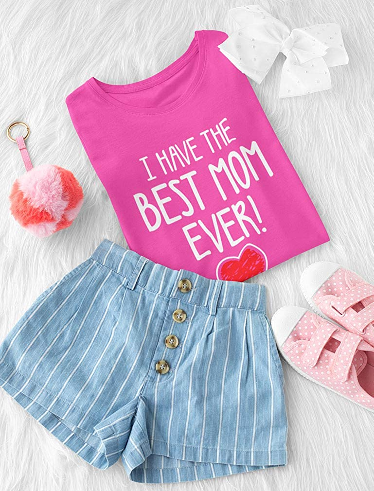 Mothers Day 3//4 Sleeve Baseball Jersey Toddler Shirt Tstars I Have The Best MOM Ever