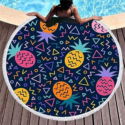 Amazon.com : WLEZY Beach Towel Printed Fruits Microfiber ...