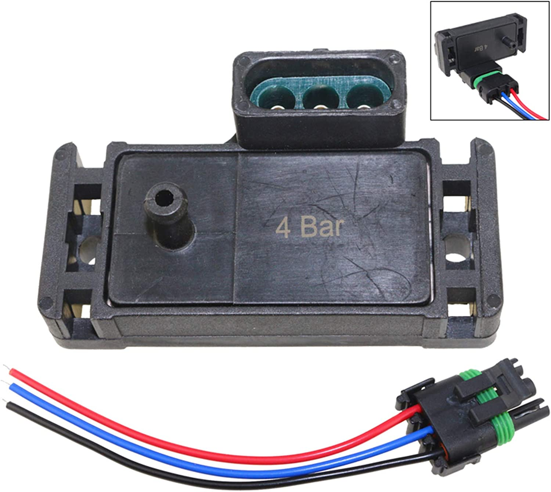 2 Bar Air Pressure Sensor with Plug for GM  12247571