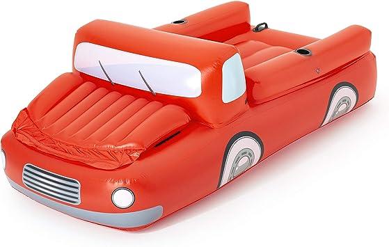 Bestway 43192 Colchoneta Hinchable CoolerZ Camión Rojo Grande, 280x149 cm