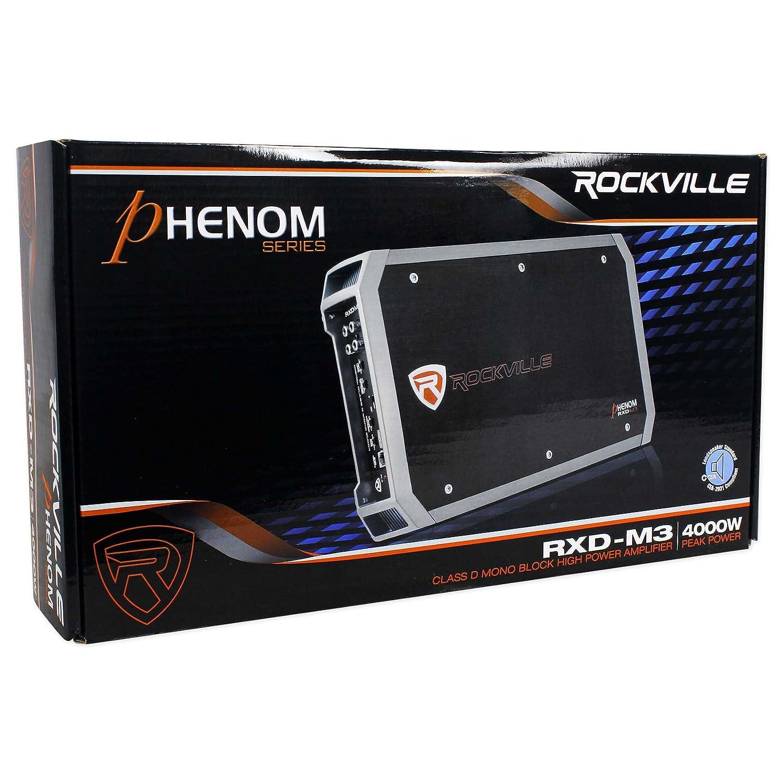 Rockville Rxd M3 4000 Watt 2000w Rmsmono Car Amplifier Cheap Amp Wiring Kits 100 Copperamp Wire Kit Electronics