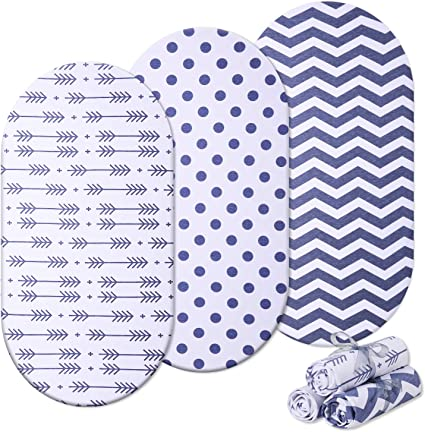 MOSES BASKET FOAM MATTRESS BASSINET BABY OVAL BREATHBLE QUILTED 82 X 45 X 3.5 CM