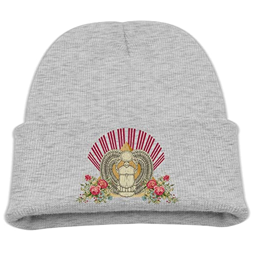 7eb5801f6a2 Amazon.com  Kids Hats Children Shell Egypt Pyramid Flower Pattern Wool Cap  Fashion Beanies Knitted Caps Warm Winter Hats For Girls Boys  Clothing